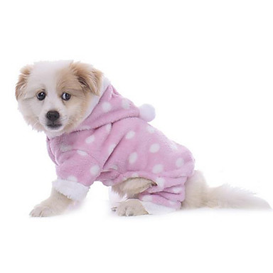 Dog Pajamas Dog Clothes Casual/Daily Polka Dots Blue Blushing Pink