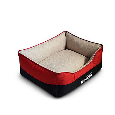 Dog Bed Pet Mats & Pads Solid Colored Warm Soft Coffee Red Blue For Pets