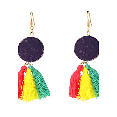 Women's Drop Earrings Jewelry Geometric Logo Style Tassel Bohemian Sexy Friendship Oversized Inlaid Adjustable Cotton/Linen Blend
