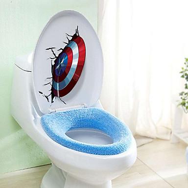 Still Life Former abstrakt Veggklistremerker 3D Mur Klistremerker Dekorative Mur Klistermærker Toilet klistermærker Materiale Hjem Dekor