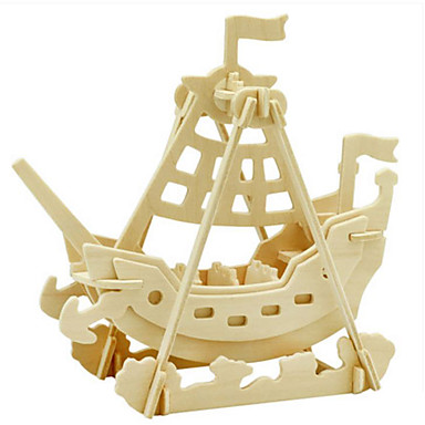 3D Puzzles Jigsaw Puzzle Wood Model Toys Dinosaur Warship 3D Insect Animals DIY Wood Not Specified Pieces