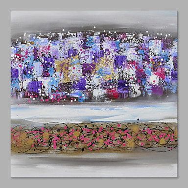 Hand-Painted Abstract Horizontal, Artistic Canvas Oil Painting Home Decoration One Panel