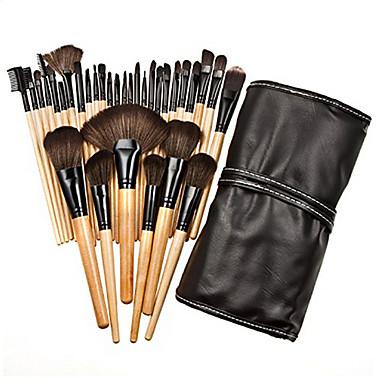 ieftine Frumusețe & Păr-Profesional Machiaj perii Seturi perie 32pcs Ecologic Acoperire Integrală Lemn Pensule de Machiaj pentru