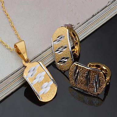 Mulheres Conjunto de jóias - Chapeado Dourado Vintage, Euramerican Incluir Sets nupcial Jóias Dourado Para Festa Festa / Eventos Dia a Dia