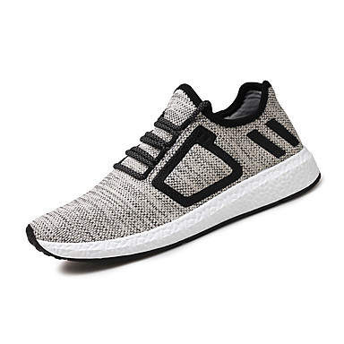 Men's Shoes Fabric Spring Summer Comfort Light Soles Sneakers For Casual Black Beige Gray