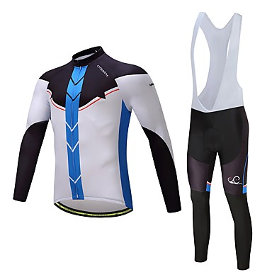 Cycling Jersey with Bib Tights Unisex Long Sleeves Bike Clothing Suits Ventilation Quick Dry Polyester Spandex Silicon LYCRA® Autumn
