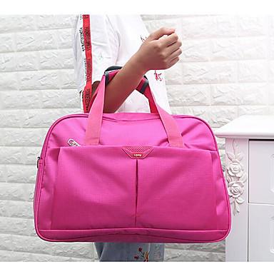 Women Travel Bag Polyester All Seasons Casual Outdoor Round Zipper Blue Fuchsia Ruby