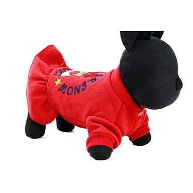 Dog Dress Dog Clothes Casual/Daily Princess Red