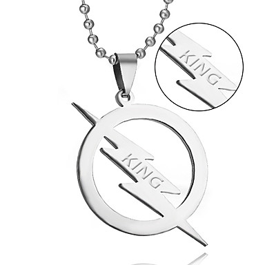 Sales of high-quality titanium jewelry necklace lightning European and American TV Flash Necklace
