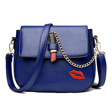 Women Bags PU Shoulder Bag for Casual Outdoor All Seasons Blue Black Gray
