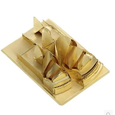 Quebra-Cabeças 3D Quebra-Cabeça Quebra-Cabeças de Metal Brinquedos de Montar Arquitetura Sydney Opera House 3D Faça Você Mesmo Alumínio