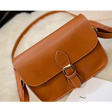 Women's Bags PU Shoulder Bag for Casual Outdoor All Seasons White Black Brown