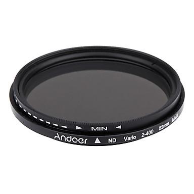 andoer 52mm nd Faderilla neutraali tiheys säädettävissä ND2 on nd400 muuttuva suodatin Canon Nikon dslr kamera