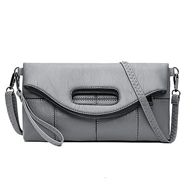 Women Bags All Seasons PU Shoulder Bag for Casual Outdoor Black Red Gray