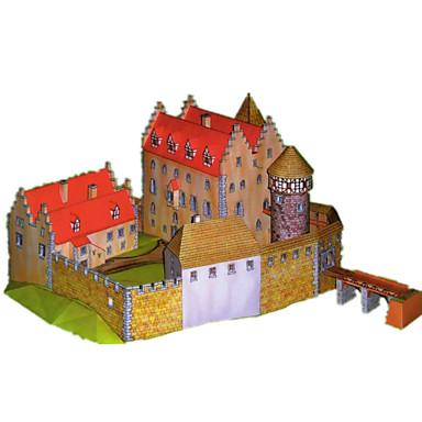 Quebra-Cabeças 3D Maquetes de Papel Artesanato de Papel Brinquedos de Montar Castelo Construções Famosas Arquitetura Faça Você Mesmo