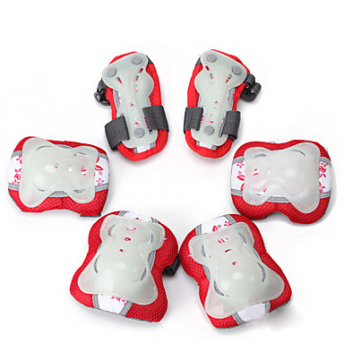Kids Protective Gear Knee Pads + Elbow Pads + Wrist Pads for Cycling Skateboarding Inline Skates Roller Skates Eases pain Breathable 6