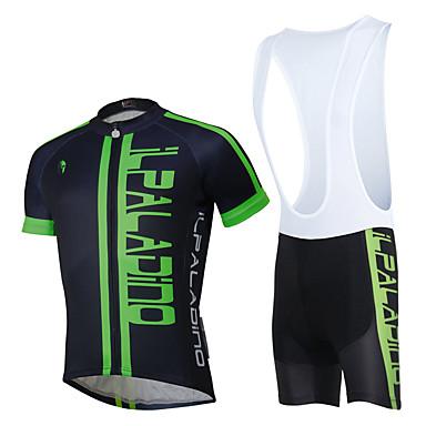 ILPALADINO שרוולים קצרים חולצת ג'רסי ומכנס קצר ביב לרכיבה - לבן שחור פרחוני  בוטני בריטי אופניים מדים בסטים, עמיד למים, ייבוש מהיר, עיצוב