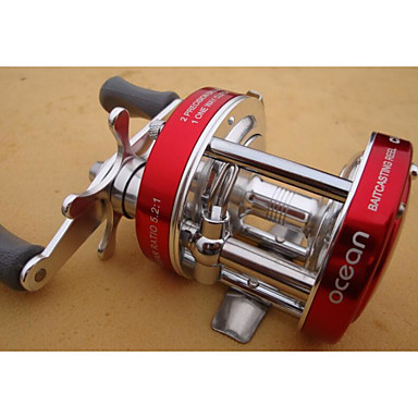 Fishing Reel Bearing Baitcasting Reel 5:1 Gear Ratio+8 Ball Bearings Hand Orientation Exchangable Sea Fishing Fly Fishing Freshwater