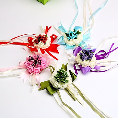 Wedding Flowers Wrist Corsages Wedding Special Occasion Satin 2.76
