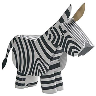 Quebra-Cabeças 3D Maquetes de Papel Brinquedos de Montar Cavalo Zebra Animais Faça Você Mesmo Cartão de Papel Duro Clássico Crianças Unisexo Para Meninos Brinquedos Dom