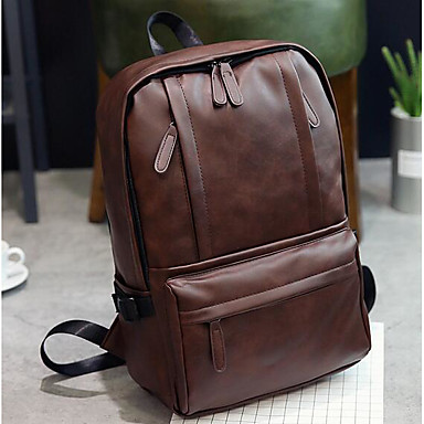 Unisex Bags PU Sports & Leisure Bag for Casual All Seasons Brown Black
