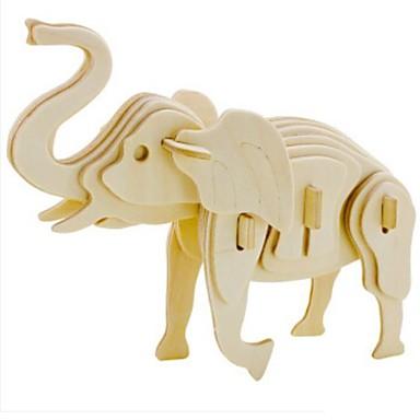 3D építőjátékok Fejtörő Wood Model Állatok DIY Fa Gyermek Felnőttek Uniszex Ajándék
