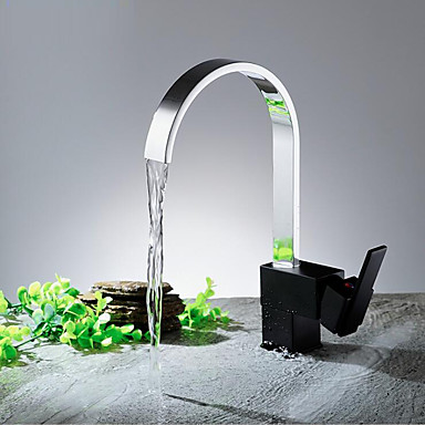 Modern/Contemporary Modern/Contemporary Vessel Widespread Ceramic Valve Chrome, Kitchen faucet