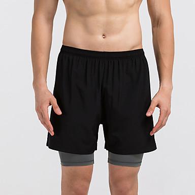 Herre Shorts til jogging Fitness, Løping & Yoga Fort Tørring Shorts Bunner til Løper Trening & Fitness Svart