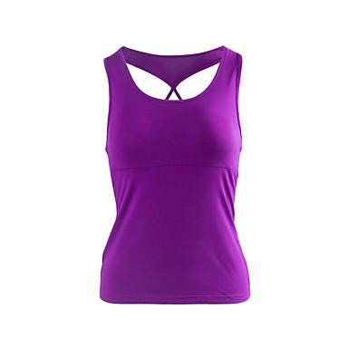 Women's Running Tank Fitness, Running & Yoga Tank Top for Yoga Running/Jogging Exercise & Fitness Modal White Black Violet