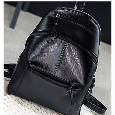 3965dfdbe49cb للمرأة أكياس نايلون   تقليد الجلد   PU حقيبة ظهر سحاب أسود 6033529 ...