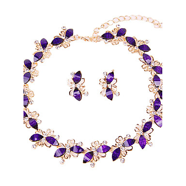 Women's Jewelry Set - Classic, Simple Style, Fashion Include Necklace / Bracelet / Bridal Jewelry Sets Purple For Christmas / Wedding / Party / Special Occasion / Anniversary / Birthday