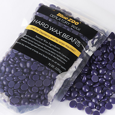 100g Purple Lavender Removal Cream Color No Strip Depilatory Hot Film Hard Wax Pellet Waxing Bikini Hair Removal Bean