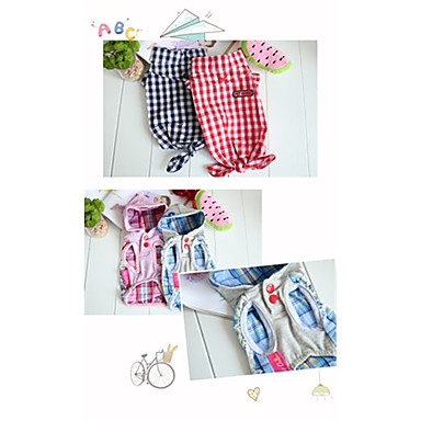 Dog Hoodie Dog Clothes Stripe Red Blue Pink Cotton Costume For Pets Casual/Daily