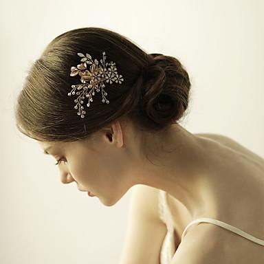 krystall legering hår kammer blomster headpiece klassisk feminin stil