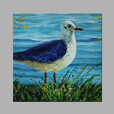 Pintura a Óleo Pintados à mão - Animais Abstracto Tela de pintura