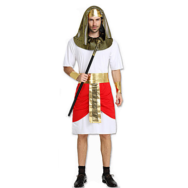 Fairytale Roman Costumes Egyptian Costumes Cosplay Pharaoh Cosplay Costumes Party Costume Male Festival/Holiday Halloween Costumes