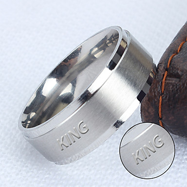 Jewelry processing factories wide matte matte ring ring can smooth their domineering man lettering