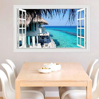 Landscape Wall Stickers Plane Wall Stickers Decorative Wall Stickers,Plastic Material Home Decoration Wall Decal