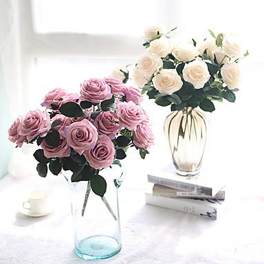 Művirágok 1 Ág Európai stílus Rózsák Asztali virág