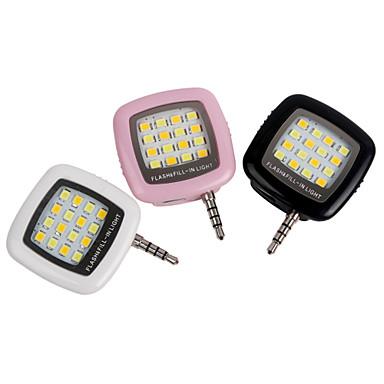 1 stk ywxlight®-ledet flash-fyll-lette iPhone-smarttelefon bærbar mobiltelefon oppladbar