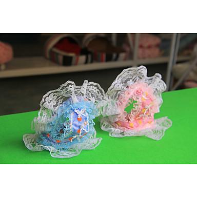 Hund Kopftücher & Hüte Hundekleidung Lässig/Alltäglich Polka Dots Blau Rosa