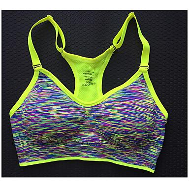 Dame SportsBH-er Fitness, Løping & Yoga SportsBH-er Topper til Yoga & Danse Sko Løper Trening & Fitness Trening Bomull Tett Fuksia Rød