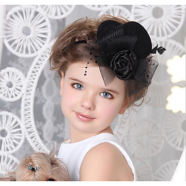 Leather Cotton Hair Clip 1 Wedding Special Occasion Halloween Anniversary Birthday New Baby Party / Evening Headpiece