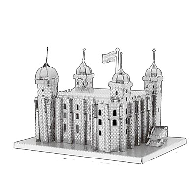 3D Puzzles Jigsaw Puzzle Metal Puzzles Model Building Kit Tower Architecture 3D Furnishing Articles DIY Chrome Metal Classic Kid's Adults'