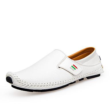 Férfi cipő Szintetikus Mikrorost PU Tavasz / Ősz Kényelmes Papucsok & Balerinacipők Fehér / Fekete / Kék / Party és Estélyi