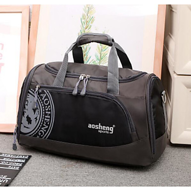 Unisex Travel Bag Oxford Cloth Polyester All Seasons Casual Outdoor Rectangle Zipper Blue Black Orange