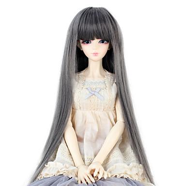 Synteettiset hiukset Peruukit Suora Otsatukalla Doll Wig