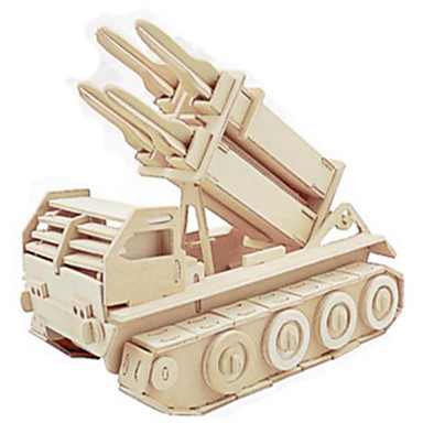 3D Puzzles Metal Puzzles Wood Model Model Building Kit Tank DIY Natural Wood Classic Kid's Adults' Unisex Gift