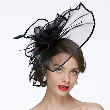 levne Ozdoby do vlasů na večírek-Síť Klobouk Kentucky Derby / Fascinátory / Klobouky s 1 Svatební / Zvláštní příležitosti Přílba
