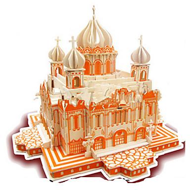 billige Spill og gåter-3D-puslespill Puslespill Modellsett Kirke GDS simulering Tre Klassisk Barne Voksne Unisex Leketøy Gave